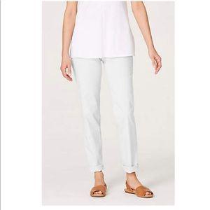 J Jill Slim Boyfriend Straight leg White Jeans